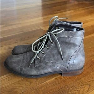 Bass Gray Ankle Boots